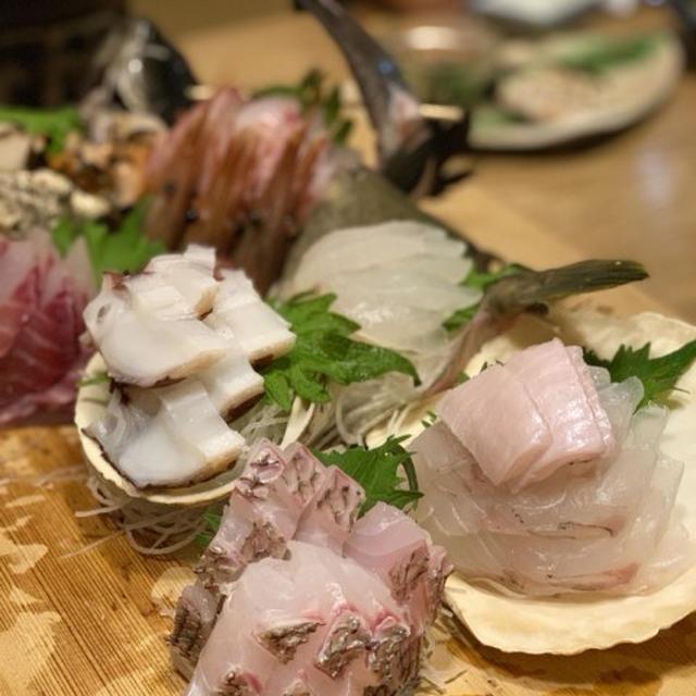 湯河原旅行 古宿花長園 魚介尽くしの夕食