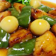 白身魚とうずら卵の甘酢あん♪【トローリ、熱々♪】
