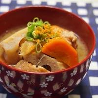 生姜で芯から温まる❤根菜の具だくさん汁
