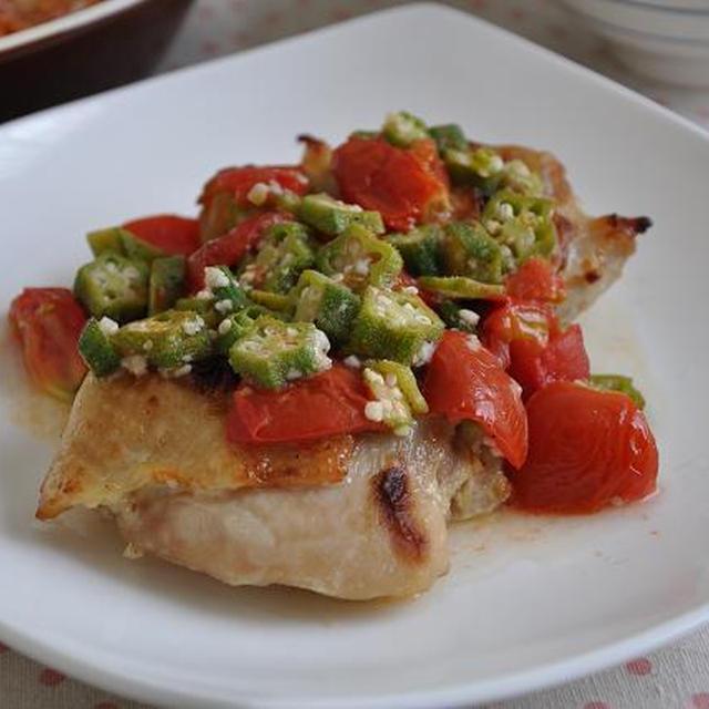 夏野菜たっぷり塩麹チキンソテー