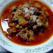 野菜たっぷり羊のスープ