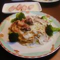 3種の茸のクリームパスタと柚子大根の生ハム巻き by みなづきさん