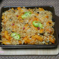 「1日分の野菜」を使って☆焼かない野菜ジュースグラタン(豆腐クリーム)