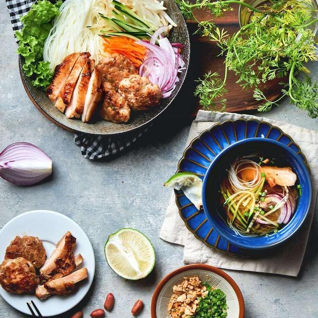 夏に食べたいアジア麺 vol.2 鶏肉でベトナム風つけ麺 お素麺アレンジ