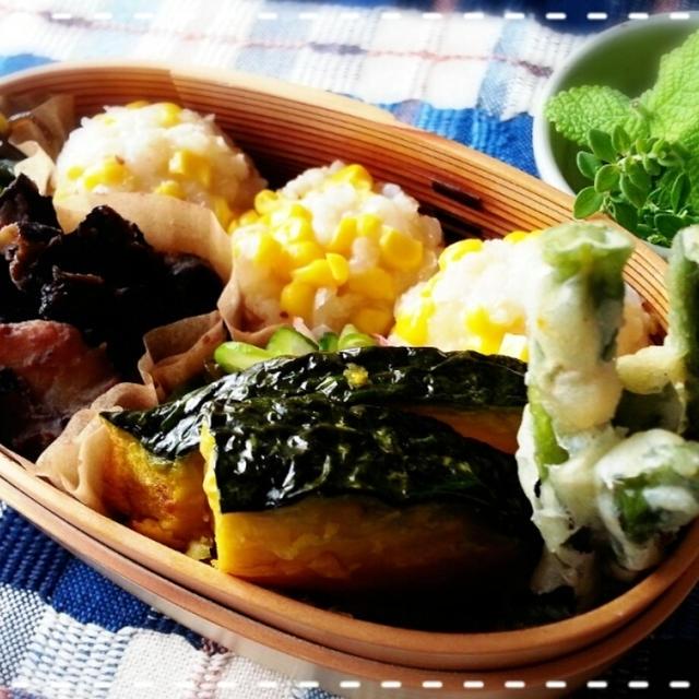 週イチマクロビ生活♡トウモロコシご飯で玄My弁当です♪(*^^*)