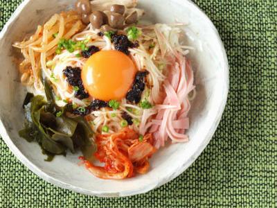 七夕に具沢山ぶっかけ素麺 & 海苔ラー油でキュウリもずく酢