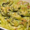 牡蠣とほうれん草とスパゲッティのグラタン
