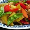 イカと野菜のブラックペパー炒め