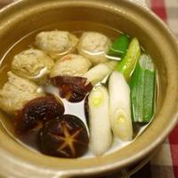 自家製鶏団子の3品鍋