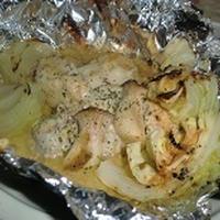 レシピブログさんモニター 包み焼き黒ホイルで鶏もも肉と色々野菜の味噌マヨチーズ焼き♪