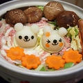 挽肉、ベーコンと白菜の重ね鍋大根おろしアート by とまとママさん