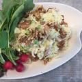 新じゃが+枝豆に粒マスタードを効かせてピリッとポテトサラダ~美味しい!!