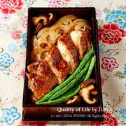【今日のおべんと】鶏ソテーのっけ弁(夫弁)