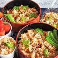 ■ケータリング料理② 【中華風竹の子の炊き込みご飯】 豚肉とトマト入りです♪】&菜園採り苺