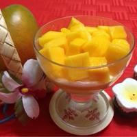 コストコのマンゴーで♪♪『マンゴーたっぷりなマンゴープリン』