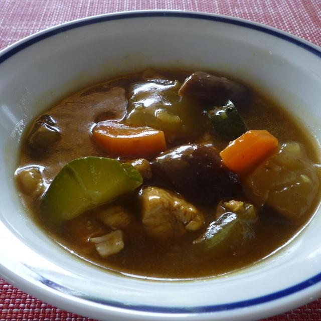 冬瓜と夏野菜のカレースープ