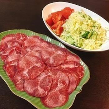 3月18日夕飯 *** 牛タン ***