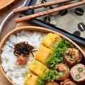 【2品弁当】♡カニカマとコーンの中華風たまご焼き♡レシピあり♡
