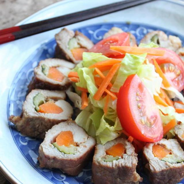 ☆とんかつ用お肉で〜お手軽 野菜入りチャシュー☆