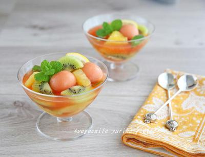 簡単手作りスイーツ!野菜白玉&フルーツポンチ
