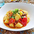 サバ缶とじゃがいものトマト炒め【缶詰×焼肉のたれで簡単ダイエットおかず】|レシピ・作り方