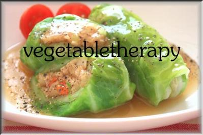 オートミールと野菜のロールキャベツ