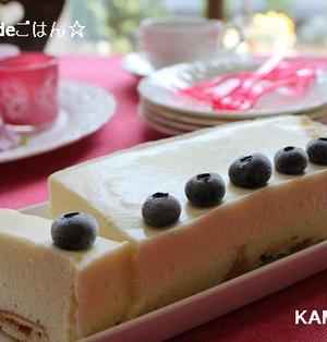 子どもと作るマシュマロチーズケーキ♪牛乳パック利用で!