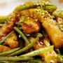 ④【シャキッと玉ねぎ天とさつま芋茎の甘辛炒め煮】今が旬!ほっこりと地味美味しい常備菜です♪