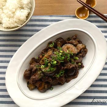 牛肉となすのピリ辛味噌炒め