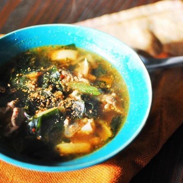 カクテキと牛肉のスープ