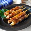豚こまで簡単♪タレはたっぷりで【豚串のタレ焼き】ご飯にのせても◎