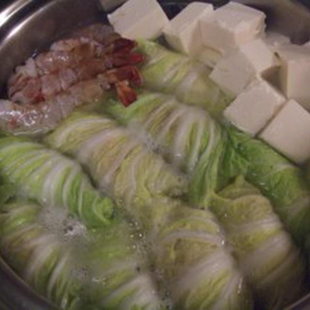 ロール白菜鍋