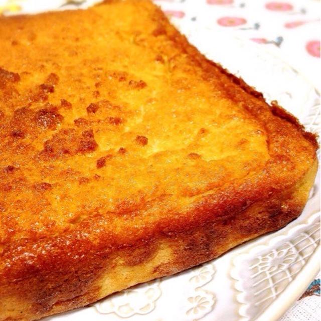 甘茶とおからのお砂糖なしバターケーキ。