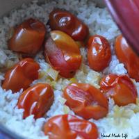 トマトと塩レモンの炊き込みご飯