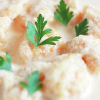 レシピ「人参豆乳ソースでいただく にんじんとじゃがいものニョッキ 」♪