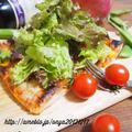 【冷凍パイシートで簡単♡5分でツナとトマトのサラダピザ♡♡ by おにゃさん