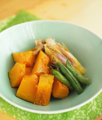 豚こまと夏野菜の煮物