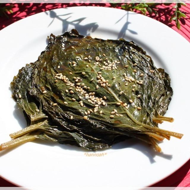 えごまの葉の醤油漬けと和え物