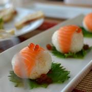 ■コストコサーモンの手まり寿司でミニホームパーティ