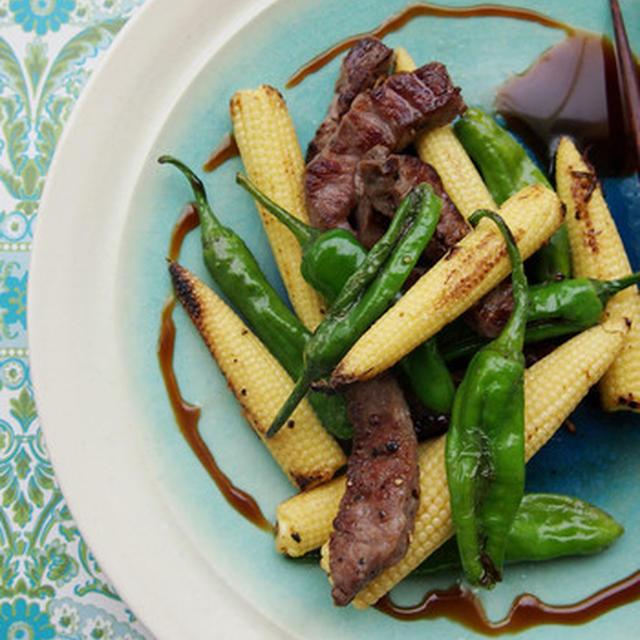 ヤングコーンと牛肉の炒めもの。