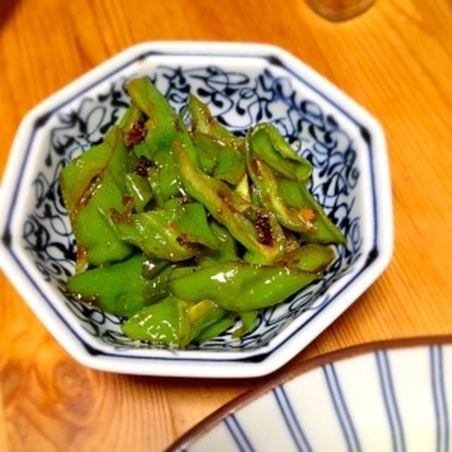 ☆甘唐辛子の醤油炒め山椒風味