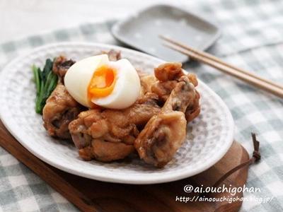 包丁いらずな簡単レシピ♡手羽元の黒酢でコクうまホロホロ煮♡