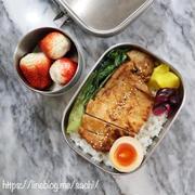 豚肉の味噌漬け焼き弁当♡【#お弁当#のっけ弁】