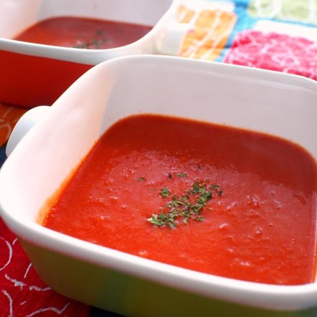 【副菜】デリ風*濃厚トマトのポタージュ♪トマト缶を使って