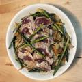 一皿で野菜たっぷり変わりマグロ丼