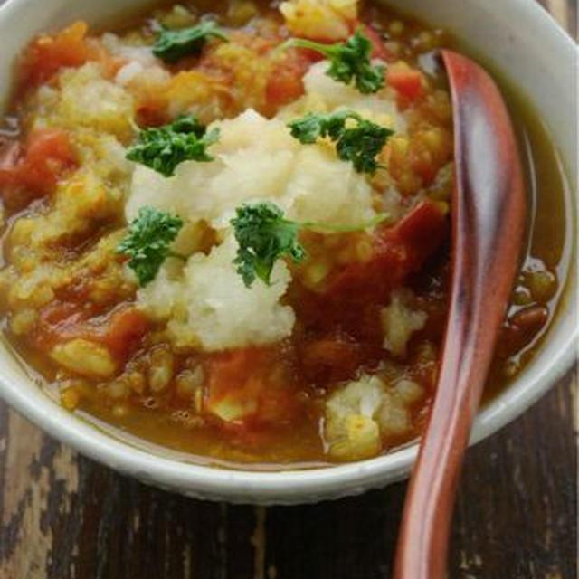 復活のトマトカレー粥