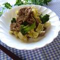 旬のキャベツで♪ご飯が進む!牛肉とキャベツの粒マスタード炒め