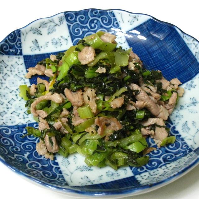 『長野』古漬けと豚肉の炒め物