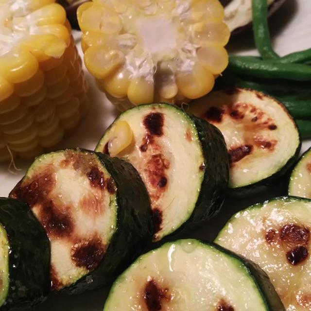 きのうのおつまみ  夏野菜のグリル