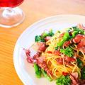 【料理動画】ホタルイカと菜の花のペペロンチーノの作り方レシピ